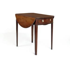 English Hepplewhite mahogany Pembroke table
