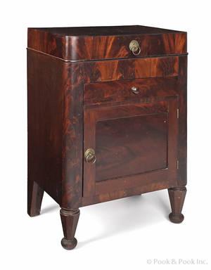 New York classical mahogany wash stand ca 1835