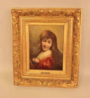 Angelo Asti 18471903 Portrait of a Beauty