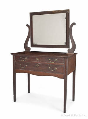 New York Federal mahogany dressing table ca 1825
