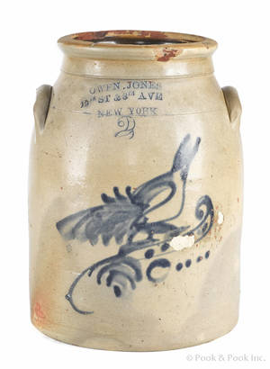 New York twogallon stoneware crock 19th c