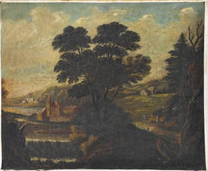 Pair of Continental oil on canvas landscapes late 18th c