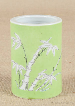 Chinese porcelain brush pot with Daoguang mark