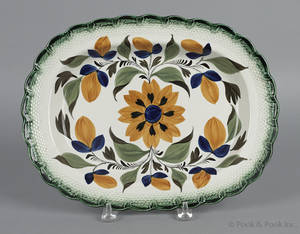 English pearlware platter early 19th c