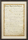 Double sided watercolor and ink on paper fraktur family register for the  Tobias Brubacher family from 1808 to 1873