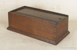 Pennsylvania walnut slide lid box ca 1800