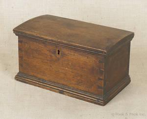 Pennsylvania walnut dome top box ca 1800