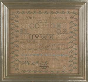 Berks County Pennsylvania silk on linen sampler dated