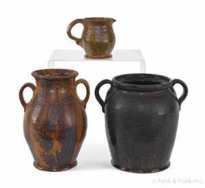 Medinger twohandled redware vase
