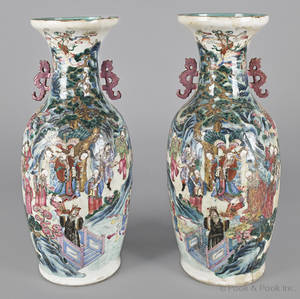 Pair of Chinese export porcelain vases ca 1840
