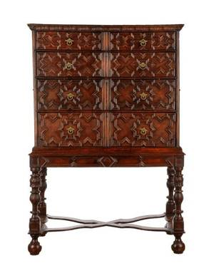 Charles II Style Oak Chest on Stand 18th C
