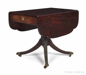 New York Federal mahogany breakfast table ca 1815