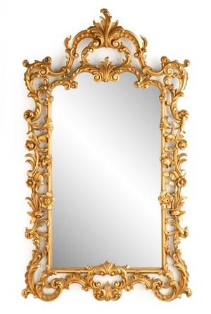 Italian Carved  Gilt Wood  Gesso Wall Mirror