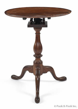 Pennsylvania Queen Anne walnut candlestand ca 1780