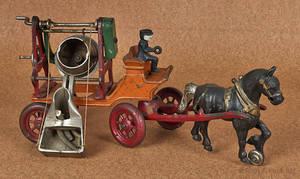 Kenton cast iron horse drawn cement mixer