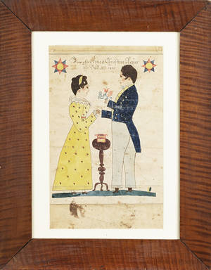 Henry Young active 18171861 Pennsylvania watercolor and ink on paper fraktur