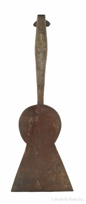 Oversized Pennsylvania wrought iron spatula