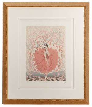 Erte Limited Edition Signed Serigraph Pink Lady