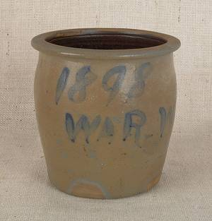 Stoneware crock dated