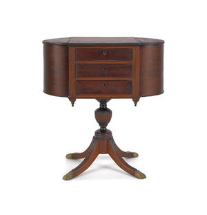 Federal style mahogany sewing stand