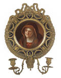 German painted porcelain plaque