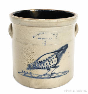 Fourgallon stoneware crock 19th c