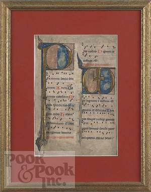 Illuminated manuscript page on vellum