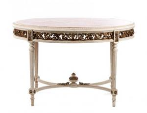 19th C French Louis XVI Style Oval Table