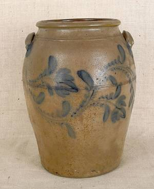 Pennsylvania sixgallon stoneware crock 19th c