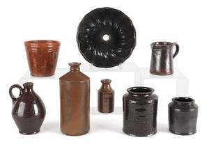 Collection of redware