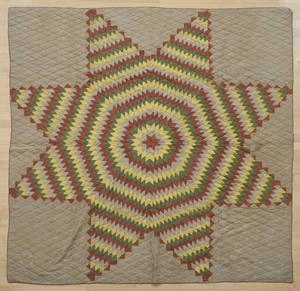 Pieced Bethlehem star quilt