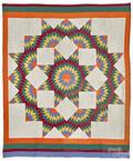 Pennsylvania broken star patchwork quilt