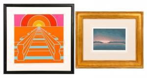 2 Framed Roy Ahlgren Signed Serigraphs 198873