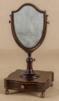 English mahogany shaving mirror