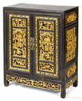 Chinese giltwood cabinet