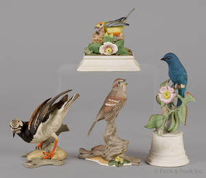 Four Boehm porcelain bird sculptures