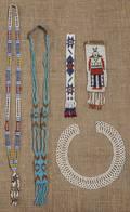 Group of Pan Indian style beadwork
