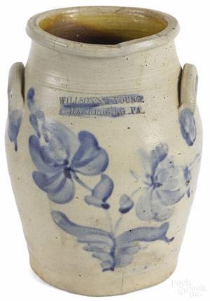 Rare Pennsylvania stoneware crock ca 1855