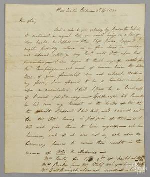 John Armstrong signed handwritten letter dated