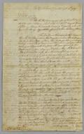 Joseph Frye signed letter dated