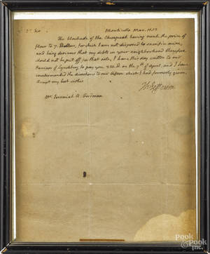 Thomas Jefferson signed letter from