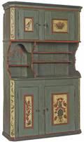 Scandinavian painted wall cupboard