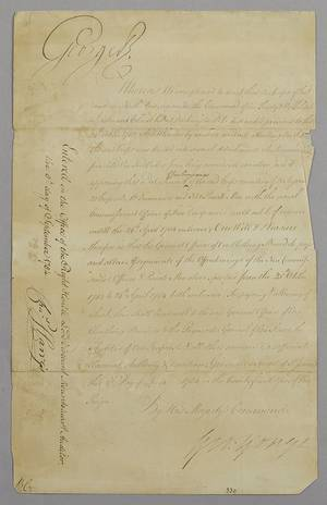 George III signed letter dated
