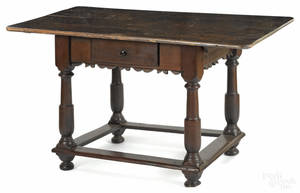 Pennsylvania William  Mary walnut tavern table ca 1750