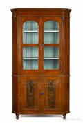 Lancaster Pennsylvania painted onepiece corner cupboard late 19th c