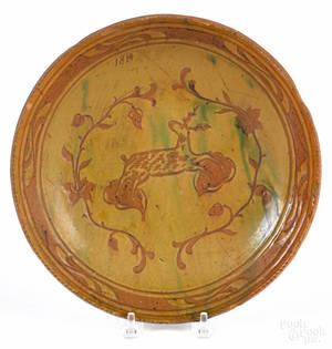 Pennsylvania redware plate ca 1900