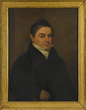 American oil on panel portrait of a gentleman ca 1840