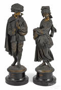 Pair of spelter statues
