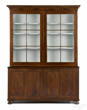 Pennsylvania Federal mahogany display cabinet