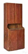 Pennsylvania painted pine stepback cupboard